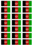 Afghanistan Flag Stickers - 21 per sheet